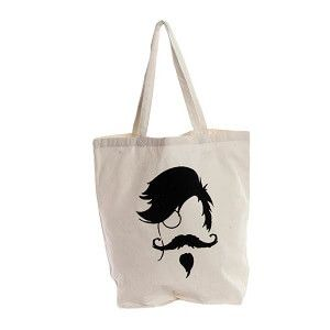 Tote bag Hipster monóculo