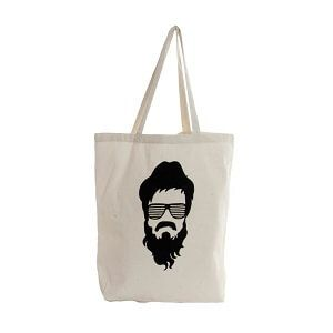 Tote bag Hipster barba