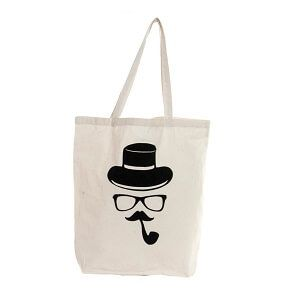 Tote bag Hipster pipa